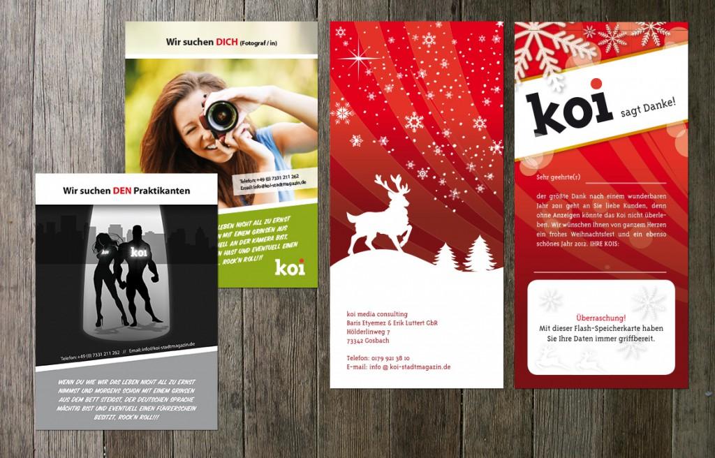 Anzeigen- und Printdesign fürs Koi Stadtmagazin in Geislingen