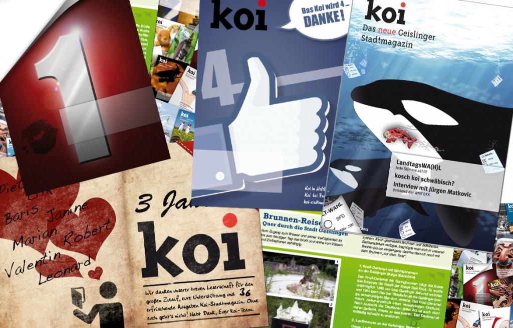 Design Cover Titelseite Koi Stadtmagazin Geislingen