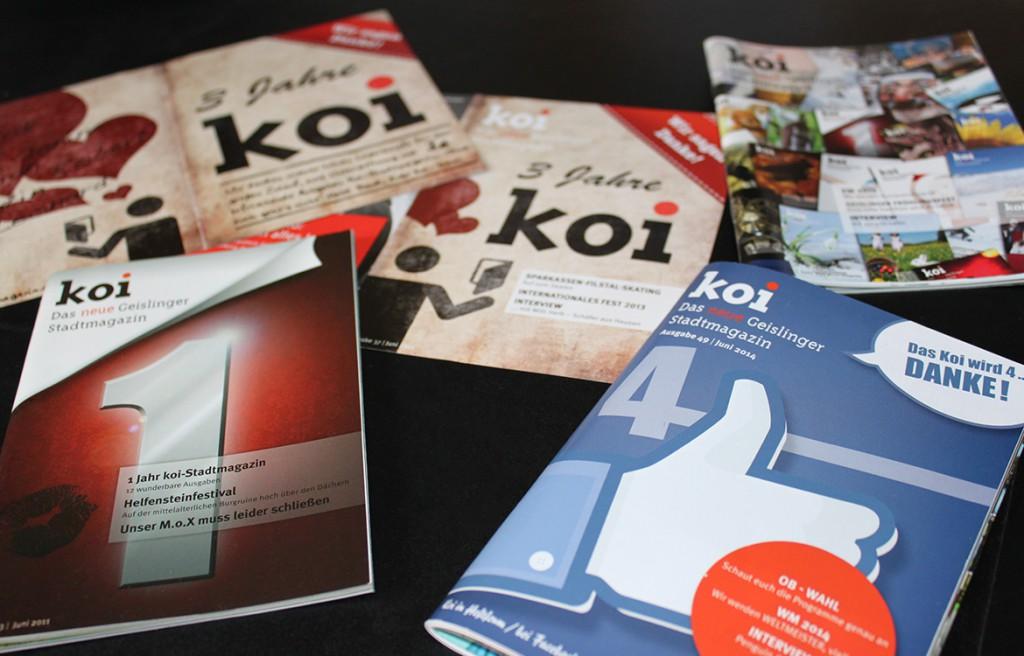 Design Jubiläumscover -titelseite Koi Stadtmagazin Geislingen