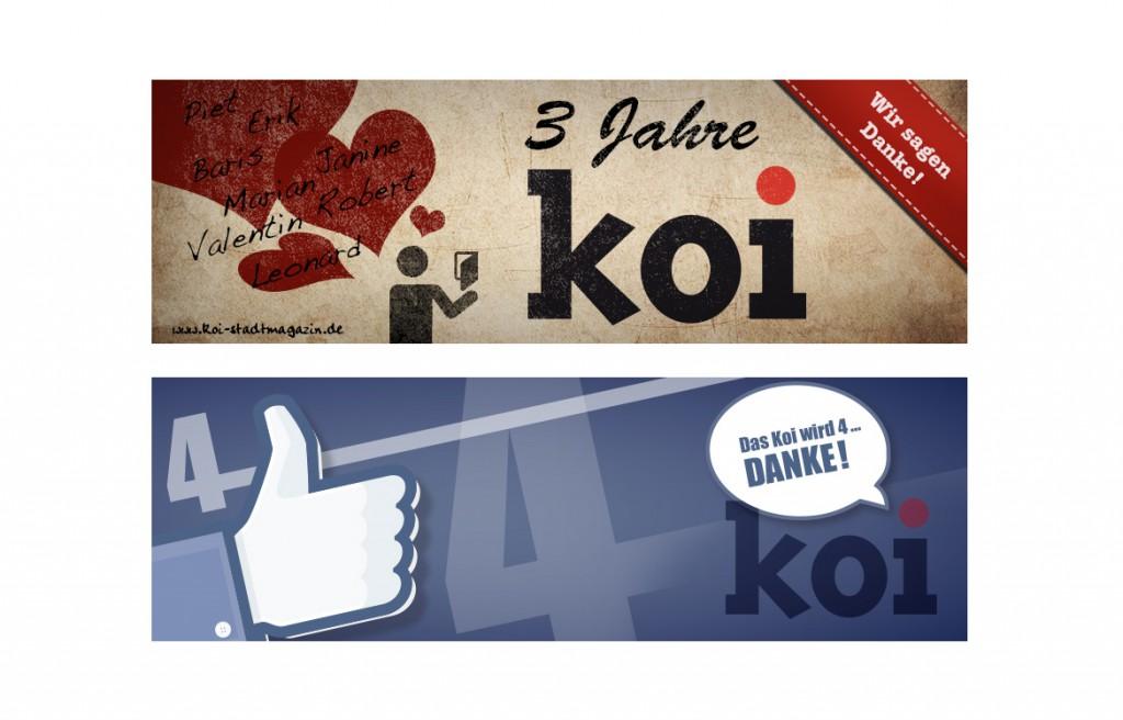 Facebookbanner Koi Stadtmagazin zum Jubiläum