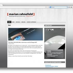 Startseite der Website von rahnefelddesign.de im Jahre 2010/2011