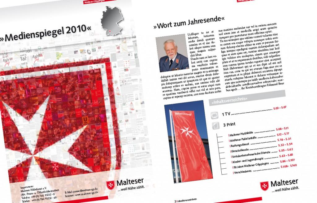 Seiten aus dem Medienspiegel 2010 Malteser Hilfsdienst Göppingen