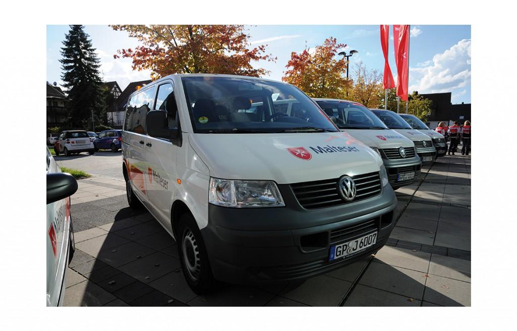 Fotografie Fahrzeugflotte des Malteser Hilfsdienstes in Göppingen