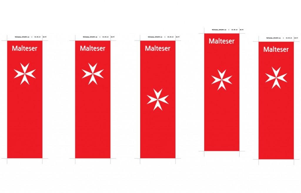 Fahnen Malteser Hilfsdienst Jubiläum