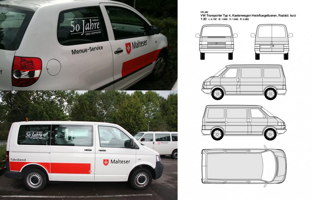 Fahrzeugbeschriftung Malteser Hilfsdienst Jubiläum