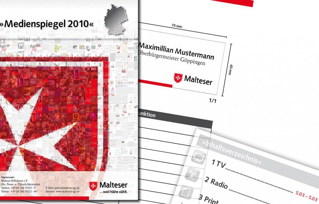Printdesign Malteser Hilfsdienst Göppingen