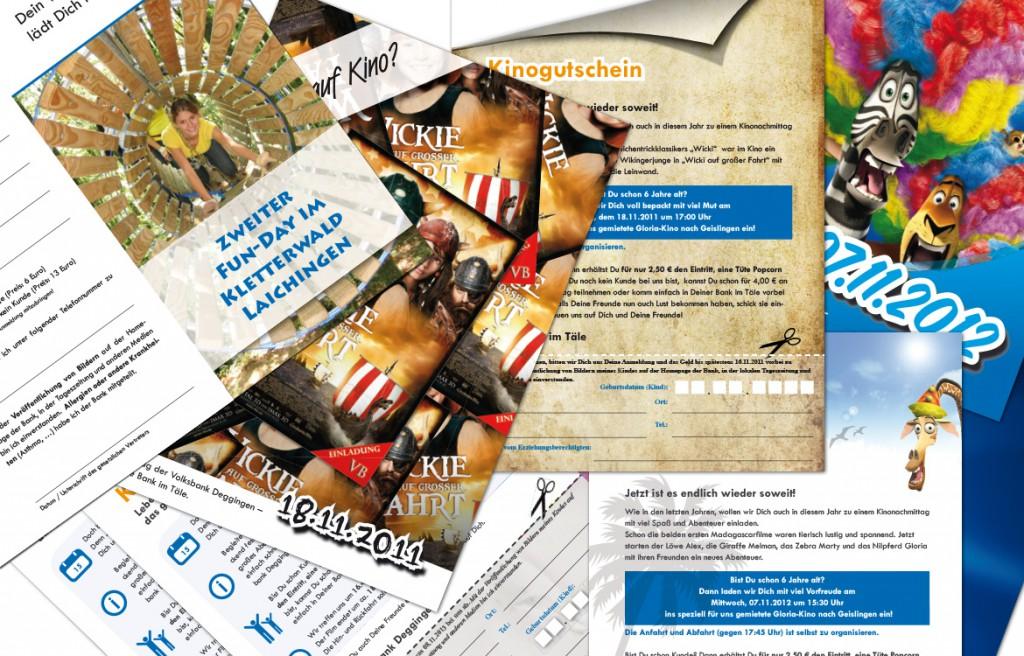 Printwebung und Kinoaktion für die Volksbank Deggingen