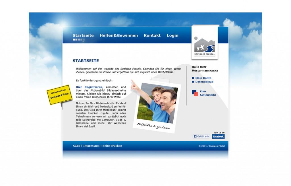 Startseite der Website vom Sozialen Filstal
