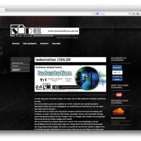 Startseite der Website vom Club Sudwerk in Geislingen