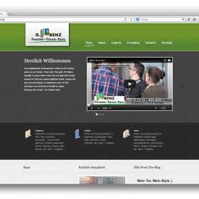 Gerald Benz Fachbetrieb für Fenster Türen und Tore in Geislingen Website Startseite