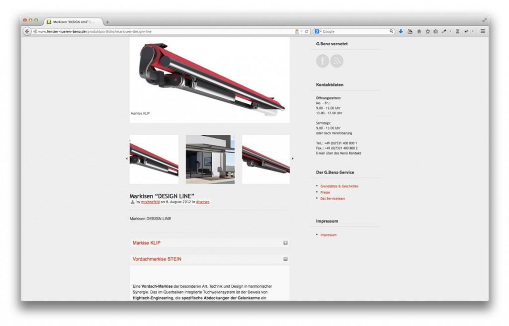 Gerald Benz Fachbetrieb für Fenster Türen und Tore in Geislingen Website Produktdetailseite