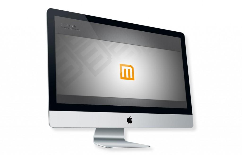 Online Medien Management Beispiel Screensaver iMac