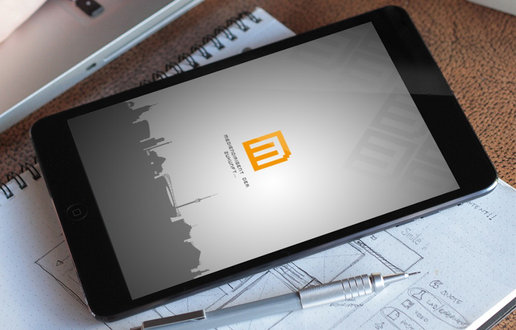 Online Medien Management Beispiel Screensaver iPad