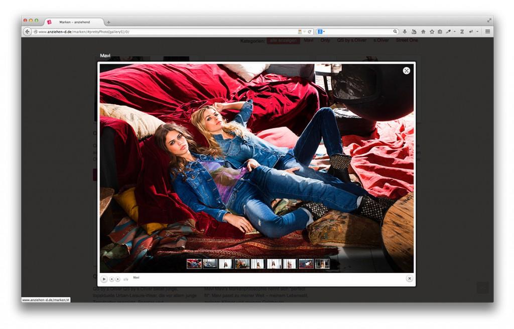 Modegeschäft anziehend Geislingen Lightbox auf der Website