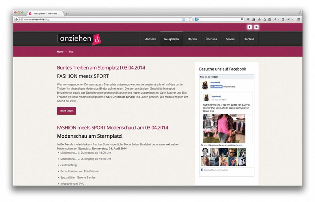 Modegeschäft anziehend Geislingen Neuigkeiten auf der Website