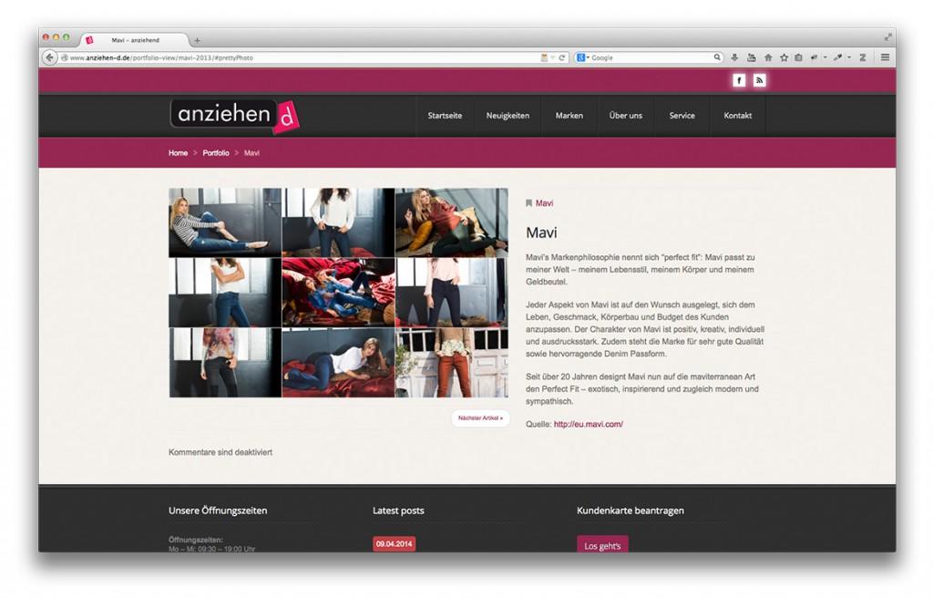 Modegeschäft anziehend Geislingen Markenportfolio der Website