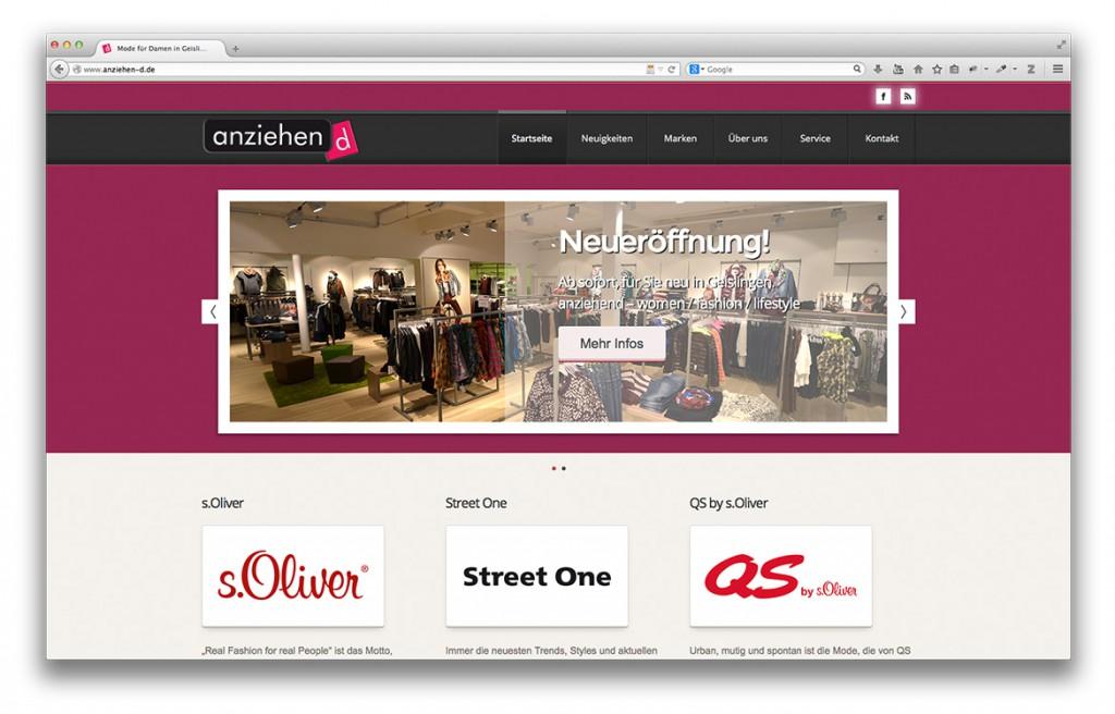 Modegeschäft anziehend Geislingen Startseite der Website