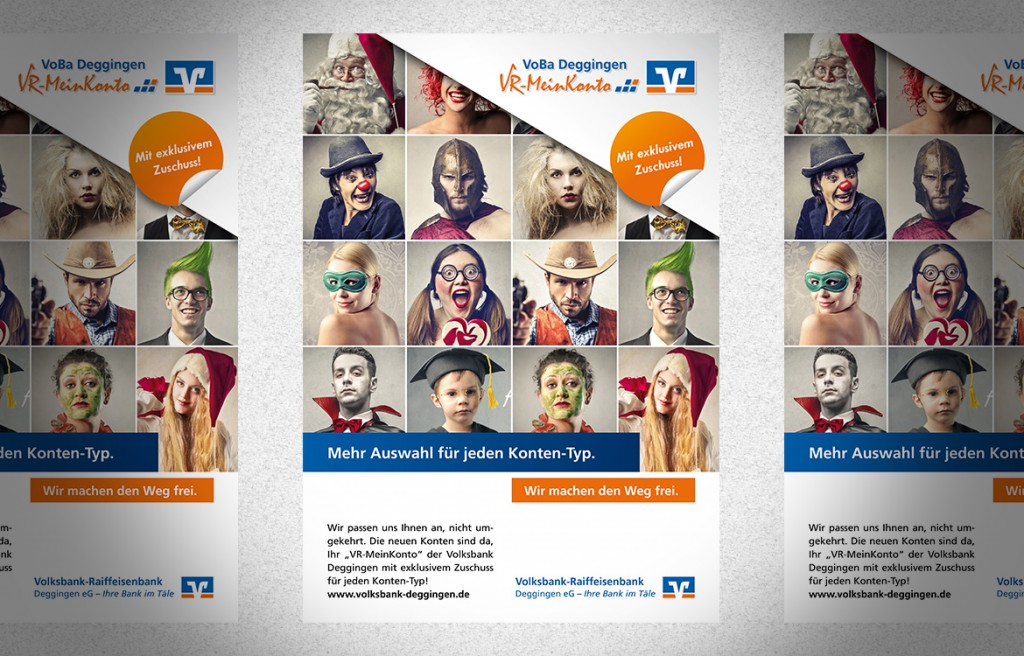 Plakat Volksbank Deggingen VR-MeinKonto