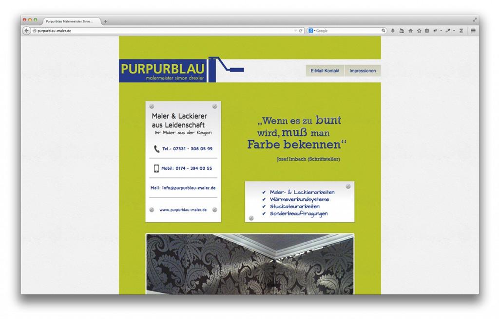 Purpurblau Maler Abbildung Startseite Website
