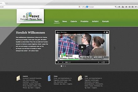 G.Benz - Fenster, Türen, Tore Website thumbnail