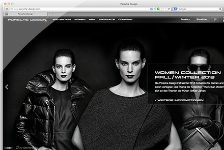 Porsche Design Web-Relaunch thumbnail