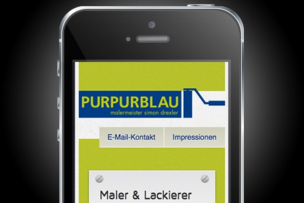 Purpurblau Maler Website thumbnail