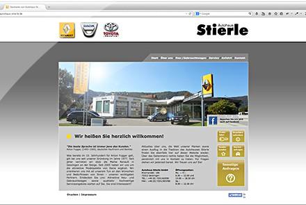 Autohaus Stierle Geislingen Website thumbnail