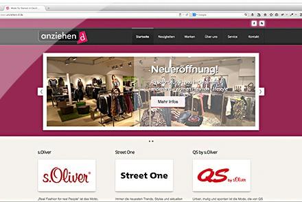 anziehend Geislingen Website thumbnail