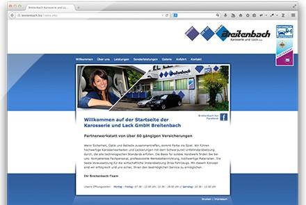 Breitenbach Karosserie und Lack Website thumbnail