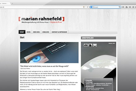 rahnefelddesign Website 2011 thumbnail