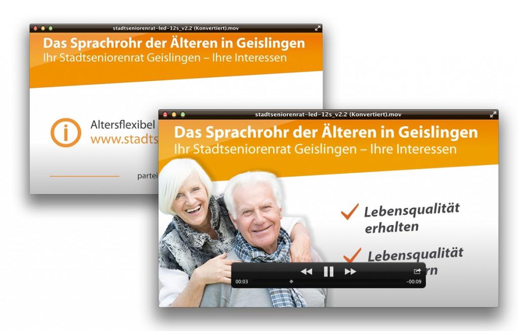 Stadtsenorenrat Geislingen Bild der Monitorpraesntation